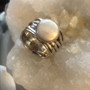 Silpada Mermaid pearl and sterling ring
